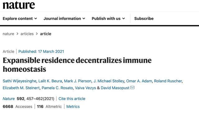 《Nature》颠覆性发现!器官中25%细胞竟是免疫细胞!