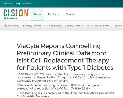 """福音!干细胞""""根治""""糖尿病有了新的临床进展"""